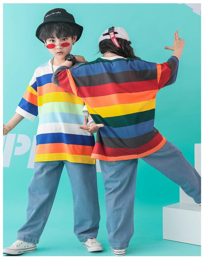 ダンス 衣装 ヒップホップ キッズ ダンス衣装 tシャツ
