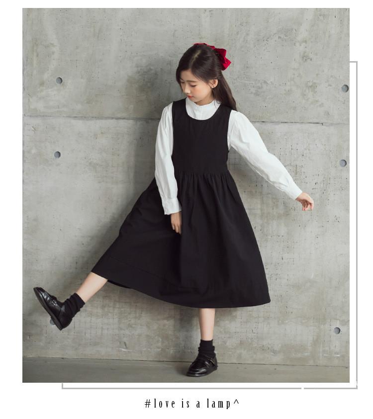 韓国子供服 森ガール 女の子 ワンピース セットアップ キッズ 春秋 秋冬