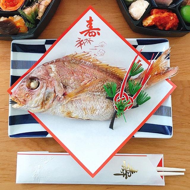 お食い初め鯛 料理