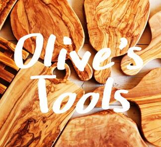 オリーブの木の道具