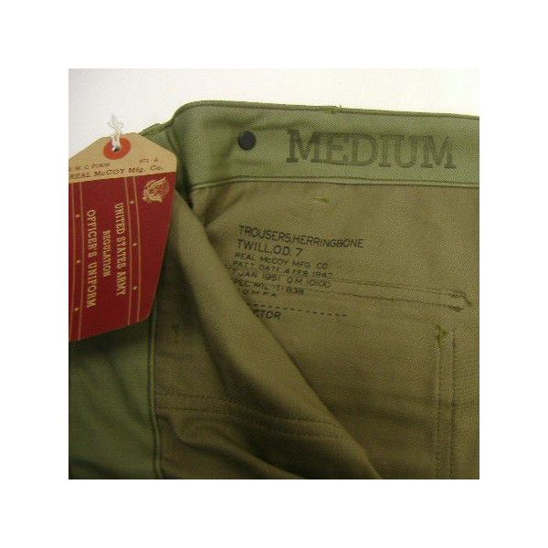The REAL McCOY'S HBT TROUSERS [1947 PATTERN] 5