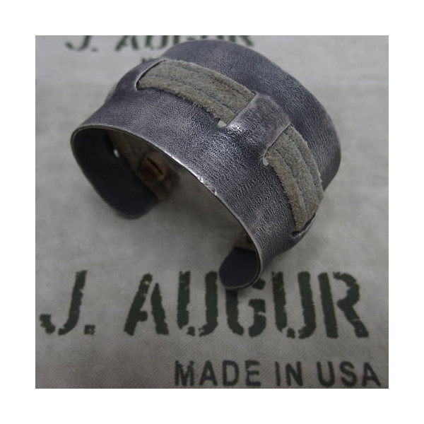 J.AUGUR DESIGN [Silver With Vintage Leather Brace] 1