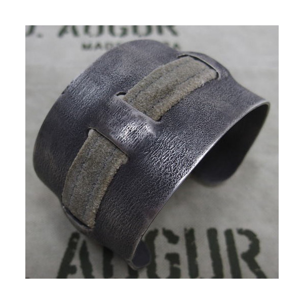 J.AUGUR DESIGN [Silver With Vintage Leather Brace] 2