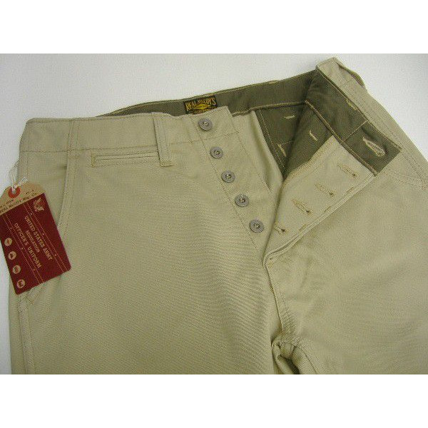 The REAL McCOY'S [KHAKI TROUSERS/41' KHAKI-H.B.T.]  3