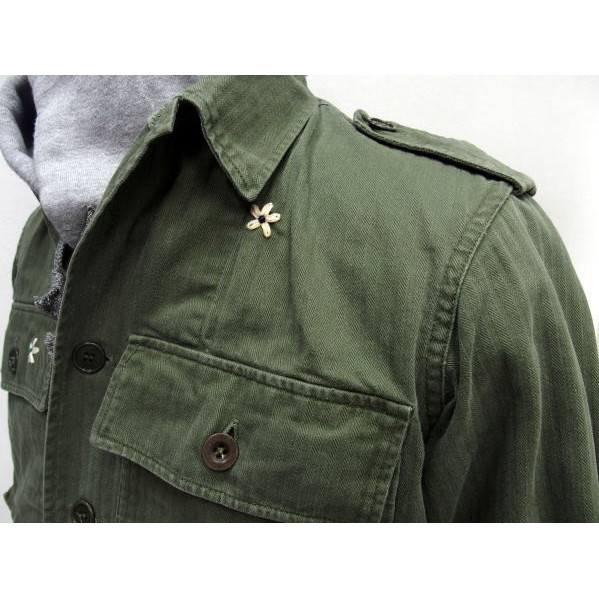 SHANANA MIL [Vintage 1950's French Army Herringbone Shirts] 3
