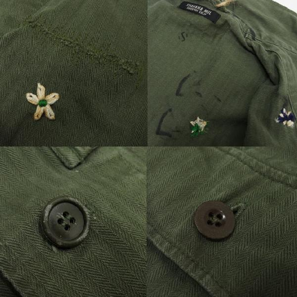 SHANANA MIL [Vintage 1950's French Army Herringbone Shirts] 7