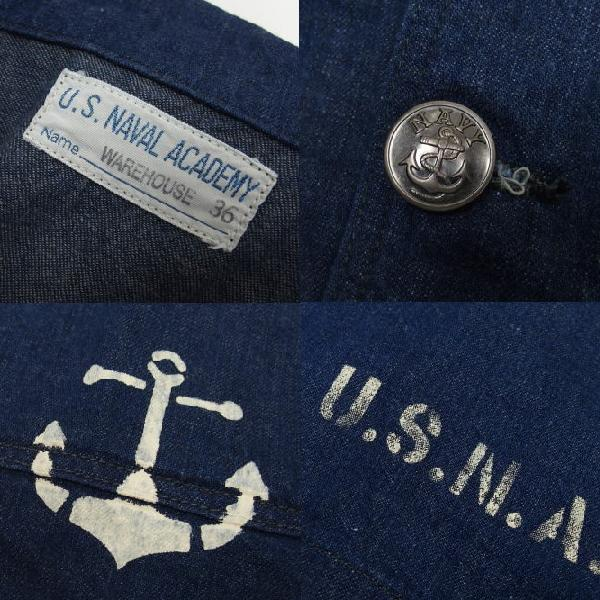 WAREHOUSE×U.S.NAVAL ACADEMY [DENIM DECK JACKET] 7