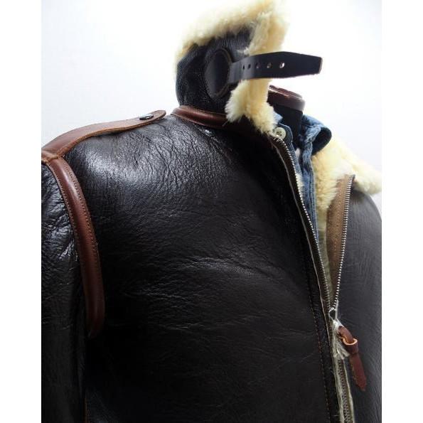 COLIMBO [B-6 Type Mouton Jacket/Side Zipper Model] 2