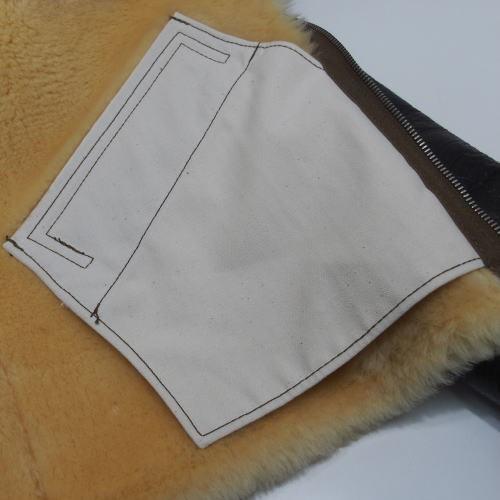 COLIMBO [B-6 Type Mouton Jacket/Side Zipper Model] 9