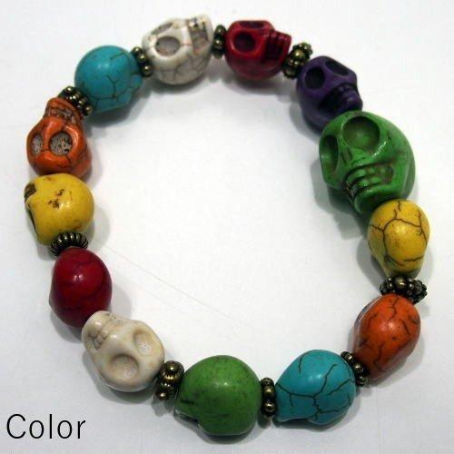 Butler Verner Sails [Colorful&Black Skull Stone Bracelet] 3