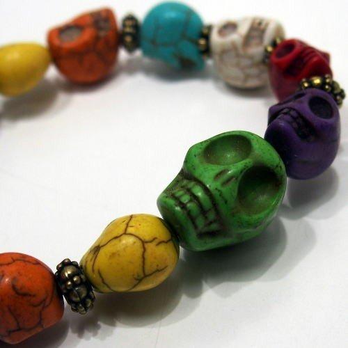 Butler Verner Sails [Colorful&Black Skull Stone Bracelet] 5