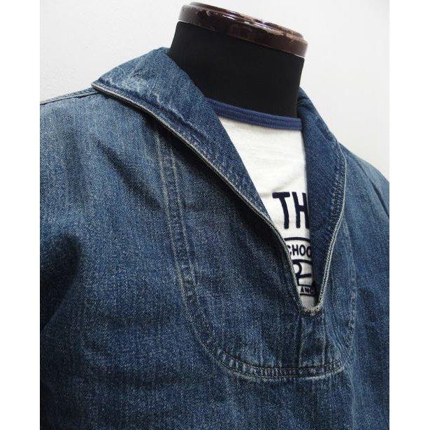 WAREHOUSE [Lot.2141 USN Denim Pullover Jacket] 2