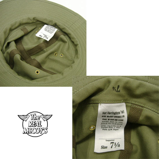 THE REAL McCOY'S(ザ・リアルマッコイズ)MILITARY ARMY HAT[H.B.T.]ミリタリーアーミーハット2