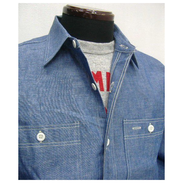 WAREHOUSE Original Vintage Chambray Shirts [Lot.3052] 2