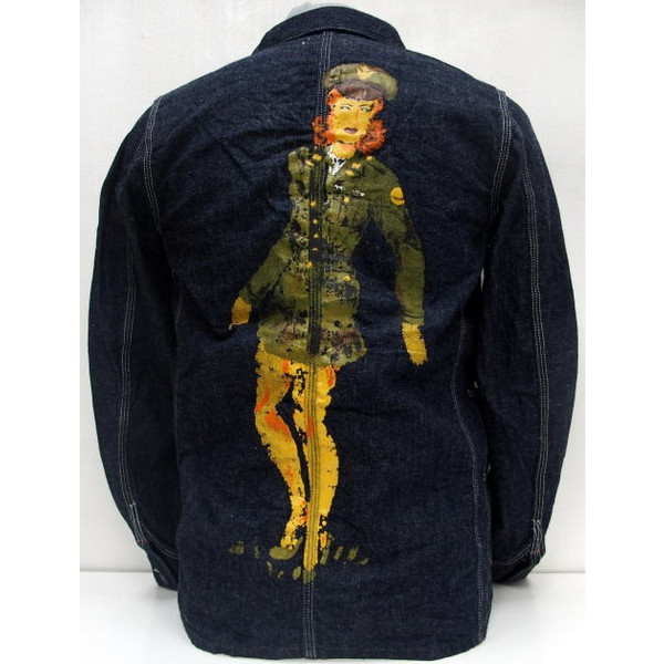 HELLER'S CAFE [1950's Military Art Denim Coverall PRINTED]2