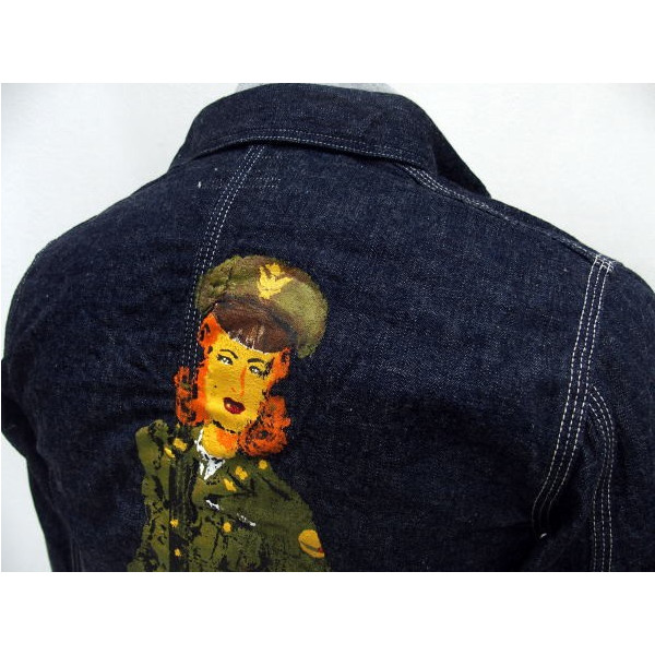 HELLER'S CAFE [1950's Military Art Denim Coverall PRINTED]4