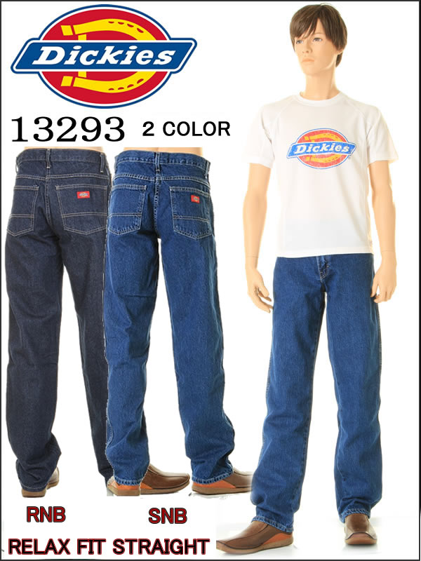 Dickies Dickies 13293 L34 SNB RNB relaxation fitting straight jeans RELAX  FIT JEANS dark wash stone wash conditioner wash