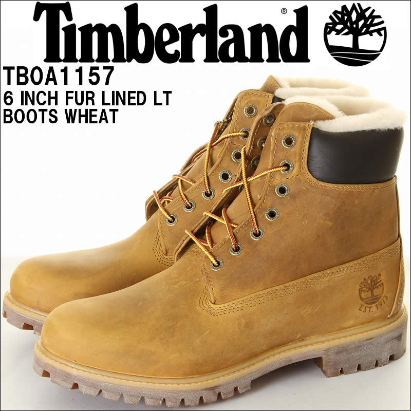 233001531bd Timberland Timberland TB0A1157 6INCH FUR LINED LT BRN NB BOOTS 6 inch fur  lined boots wheat mens boots