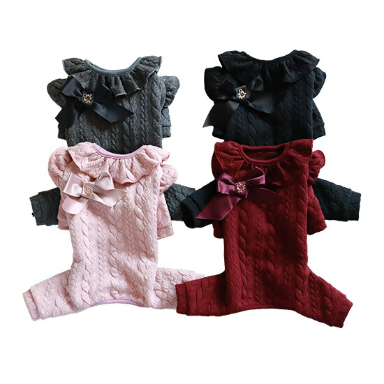 10-mimtto Cable Knit Jersey Romper