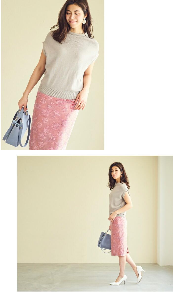 ジャガード風ベロアタイトスカート6