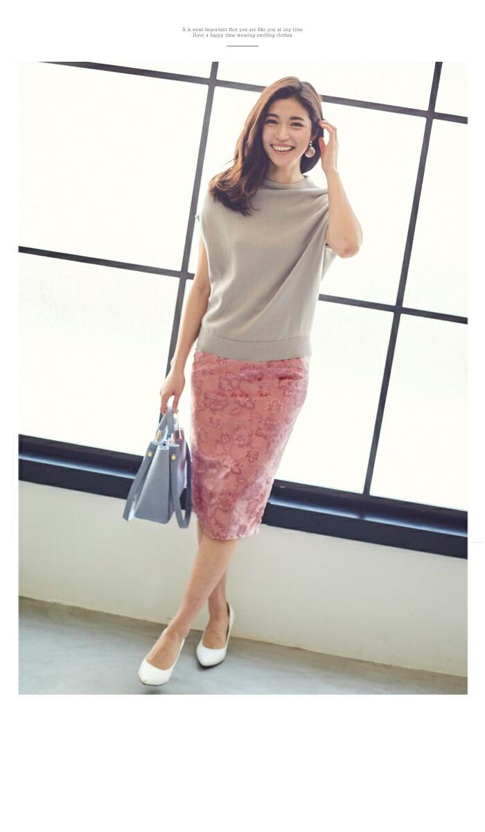 ジャガード風ベロアタイトスカート11