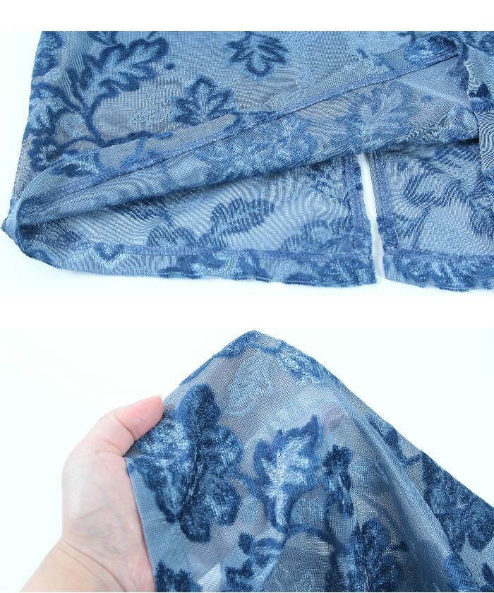 ジャガード風ベロアタイトスカート15