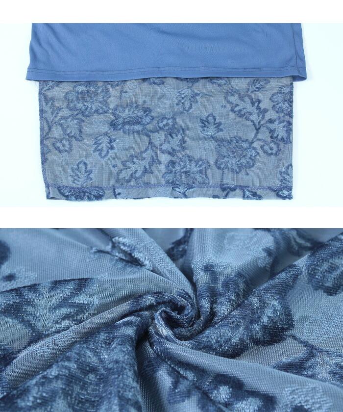 ジャガード風ベロアタイトスカート16