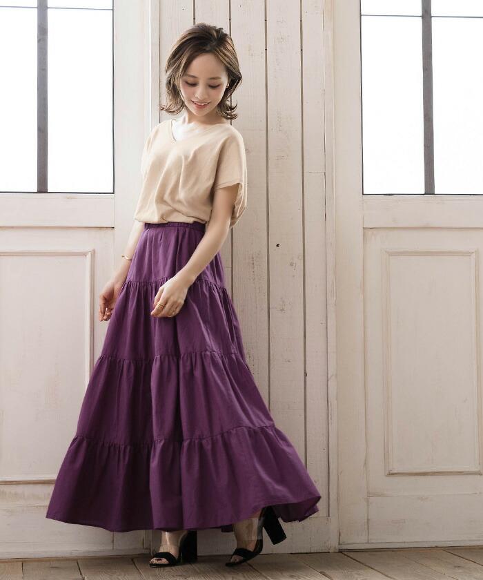 akiko atxn0122 - プチプラ通販サイト「titivate」のティアードスカートは低身長女子も使える!
