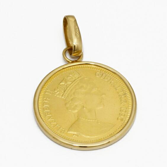 オードリーヘップバーン コインペンダント 24金 ジブラルタル レディース メンズ K18枠 1996年製 1/10オンス ペンダントトップ(トップのみの販売です) 18金 24金 ゴールド 18K 24K