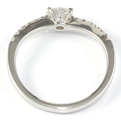プラチナ900 ダイヤモンドリング D0.511/D0.19 F SI2 EX 鑑定書付き