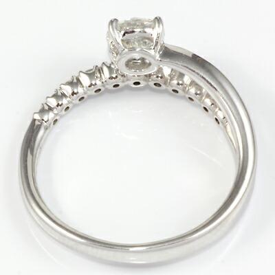 プラチナ900 ダイヤモンドリング D0.505/D0.16 H VS2 G 鑑定書付き