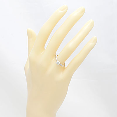◎PT900 ダイヤモンドリング D0.341 VS-1 EXCELLENT 鑑定書付き プラチナ