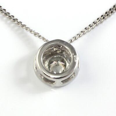 K18WG ダイヤネックレス