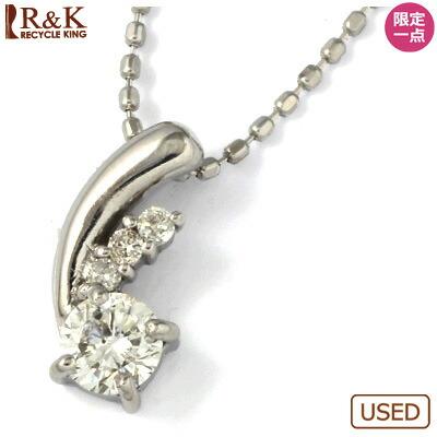 K18WG ダイヤモンドネックレス 18金
