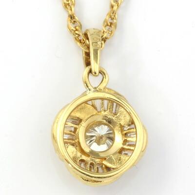 K18 ダイヤモンドネックレス D0.50 18金