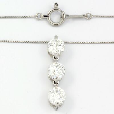 PT900/PT850 ダイヤモンドネックレス D1.009 プラチナ
