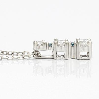 ◎K18WG ダイヤモンドネックレス D0.30 18金ホワイトゴールド