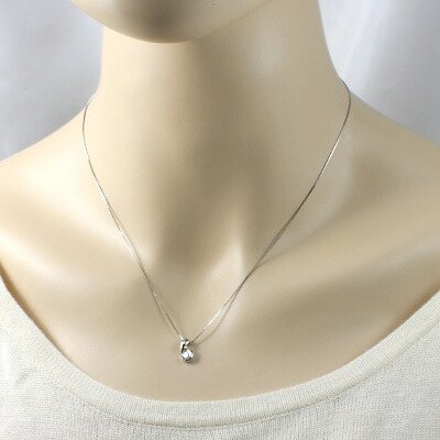 PT900/PT850 ダイヤモンドネックレス D0.210 プラチナ