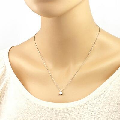 ○PT900/PT850 ダイヤモンドネックレス D0.471 プラチナ