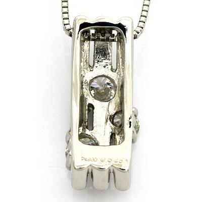 ◎PT900/PT850 ダイヤモンドペンダントネックレス D0.525 プラチナ