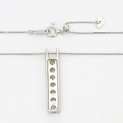 ◎K18WG ダイヤモンドネックレス D1.00 18金ホワイトゴールド