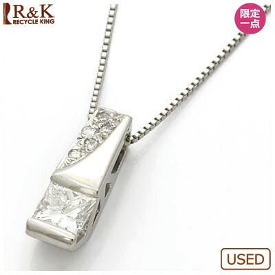 ◎PT900/PT850 ダイヤモンドネックレス D0.357/D0.05 プラチナ
