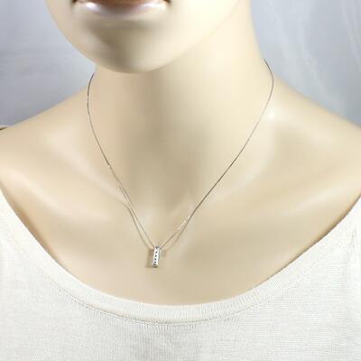 K18WG ダイヤモンドネックレス D0.08 18金