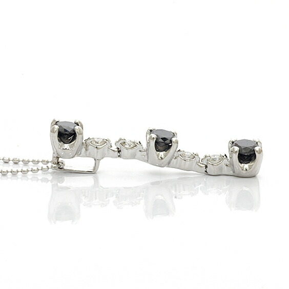 ○K18WG ネックレス ダイヤモンド 18金 ホワイトゴールド
