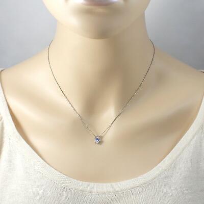 PT900/PT850 ネックレス タンザナイト ダイヤモンド D0.03 プラチナ