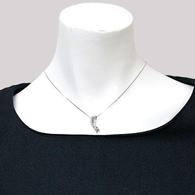◎PT900/PT850 ダイヤモンドネックレス D0.27 プラチナ