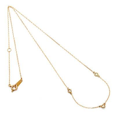 K10PG デザインネックレス ダイヤモンド D0.10 10金ピンクゴールド