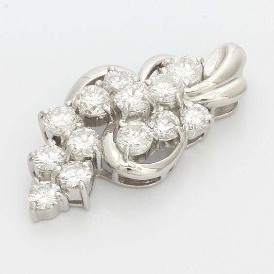 ○PT900 ダイヤモンド ペンダントトップ D2.00 (トップのみの販売です。チェーンは非付属) プラチナ
