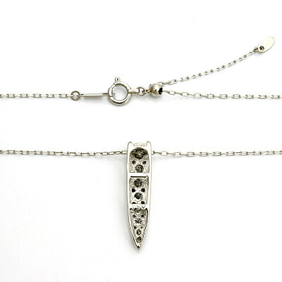 ○PT900/PT850 ダイヤモンドネックレス D0.50 プラチナ