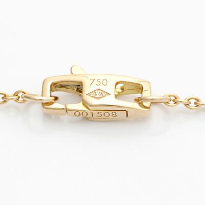 K18PG ダイヤモンドネックレス LOUIS VUITTON フラワー ピンクゴールド